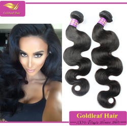 6a grade machina made hair extension 100%virgin human hair weave wholesale