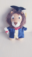 plush stuffed graduation lion with academic dress and hat, wholesale soft toys