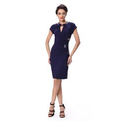 Ladies fashionable slim dresses, panel pressing dress sexy woman dress