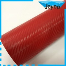 JEYCO 3D CARBON 1.52*30m/ 140um/ Red High grade 3D carbon fiber vinyl sticker for auto body wrapping