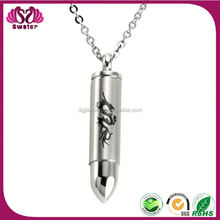 Latest Products In Market Stainless Steel Men Bullet Pendant