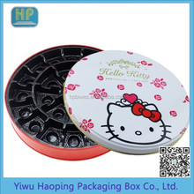 Hot Round Dute Disign Classic Animation Chocolate /Candy Tin Box/Tins for food packaging