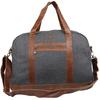2015 Grey felt leather latest men travel bag set with strap