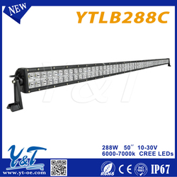 Y&T LED Light Bar 50 inch 288Watt, LED Work Lamp Light, Off Road, Atv, Utv