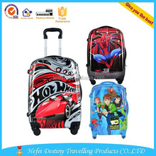 American carton figures printed colorful luggage 20'' trolley tote bag