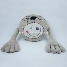 hot selling gift 83cm Funny set animal shaped plush donkey cushion