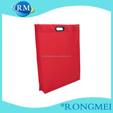Red side and bottom gussets non-woven bags