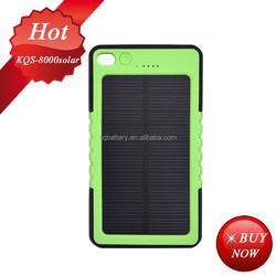 portable 2600mah usb power bank mini solar charger 8000mah 5V/2.1A