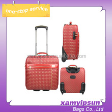 "14"" pu trolley luggage factory wholesale direct"