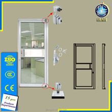 High Quality entrence profile surface treatment wood grain aluminum kfc doors with single or double glass