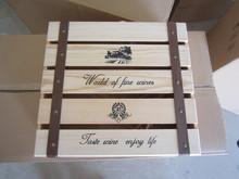 3 bottle pine wooden wine box