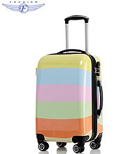 Colorful hard trolley suitcase polo trolley luggage