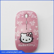 Hello kitty style wireless mouse 2.4Ghz power 2 x AAA Battery computer mice mouse