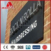 aluminium plastic sandwich panel acp panel sign board materials