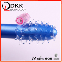 Silicone Penis Sleeve Sex Product Vibrating Penis Cock Ring Sleeve For Men XF203