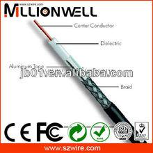 circuito cerrado de televisión 75 ohm rg6 cable coaxial cable