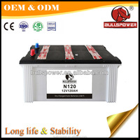 auto battery dry charged N120 12V120Ah Sail battery