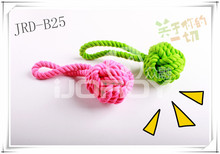 knotted cotton rope dog chew , pet cotton rope toy , puppy teething toys