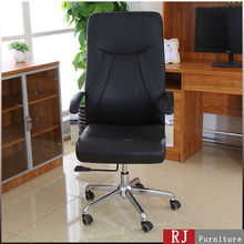 Black Synthetic leather chair with height adjustment