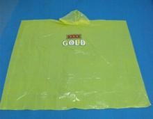 PE disposable Plastic waterproof rain coat with hat