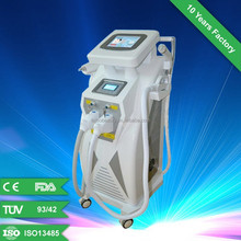 2014 hot sell e-light ipl rf+nd yag laser multifunction machine for permanent hair removal , tattoo removal and skin rejuvenatio
