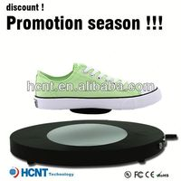 new invention ! magnetic levitating led display stand for shoe woman,branded shoes men formal