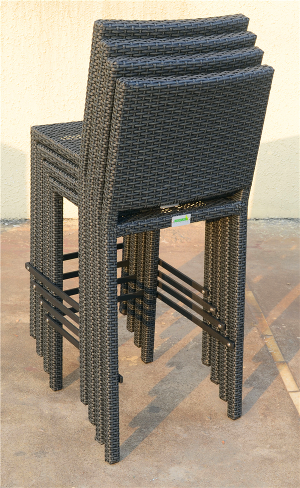 2014 nouveau produit myx 15066 kd 9 pcs rotin wicker bar table haute et chaise outils de jardin. Black Bedroom Furniture Sets. Home Design Ideas