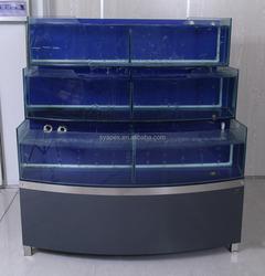 APEX custom make supermarket or restaurant aquarium large commercial fish tanks