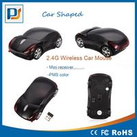 USB 2.4G usb 1600dpi 3D Optical Wireless mouse Car shape mouse PC PMS color