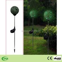 mosaic glass ball led solar garden stake for yard lawn decoration