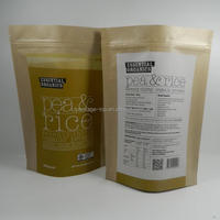 china manufacture promotional gift paper bag resealable for flour and fruit