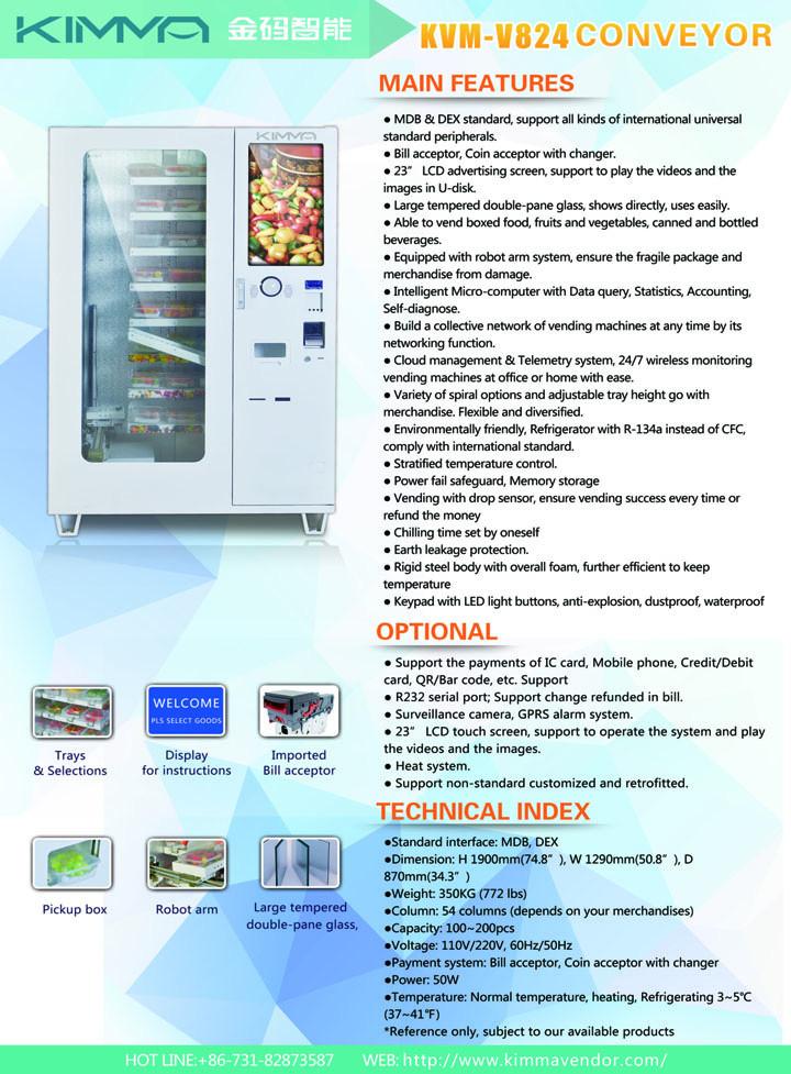 Fresh Food Vending Machine Outdoor Retail Fresh Condensed