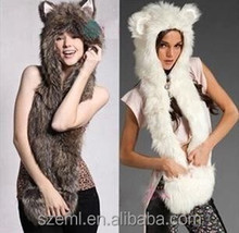 The 2014 winter new Europe and Faux Fur Hat Plush Animal cap hat one lovely cartoon