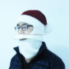 Christmas santa types of men's hats crochet beard hats for men