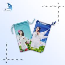 Digital print promotional canvas draw string bag