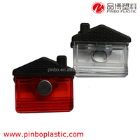 plastic clip With strong magnet on the back,House Shaped Plastic Paper Clip