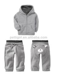 6Pcs/Lots Autumn and Winter Children Clothing Set Grey Contton Polo T Shirt and Pants with Hat For Boys Hot Sell CS21101-25G