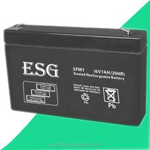 6v ups battery 6v7ah deep cycle solar battery manufacturer in China