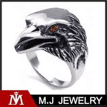 Stainless steel gothic jewelry eagle ring , hawk ring