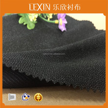 woven warp knitted interfacing/lining for garments 100% Polyester tricot knitted fusible interlining warp knitted interlining