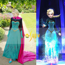 Frozen elsa dress adult elsa cosplay costume coronation formal dress for halloween custom made women Costume wholesale price