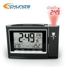 Radio controlled thermometer LED projection digital clock