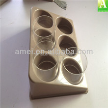 Disposable glue trays for eyelash extension application packaging