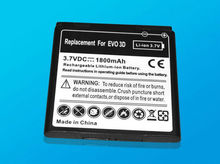 Replacement 3.7V 1800mAh Battery for HTC EVO 3D