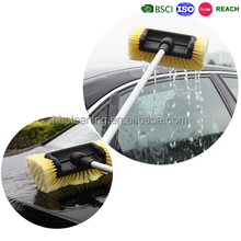 multi-angle water flow through car cleaning brush with telescopic handle