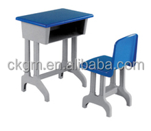 plastic desk and chair with dual legs, used kids school furniture