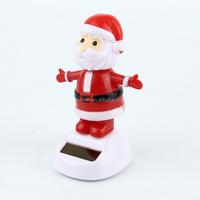 custom make plastic Solar Powered Dancing Sun Catcher Santa Claus Christmas car ornament