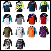 Brand Sublimation Half Sleeve Cycling Jersey Personalized Made Cycling Wear Three Quarter Sleeve Motocross Jerseys