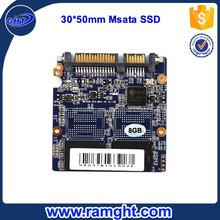 Internal mlc MSATA 8gb ssd flash hard disk