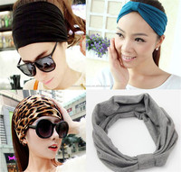 New fashion turban headband Cotton Elastic Sports Wide women Headbands for women hair accessories